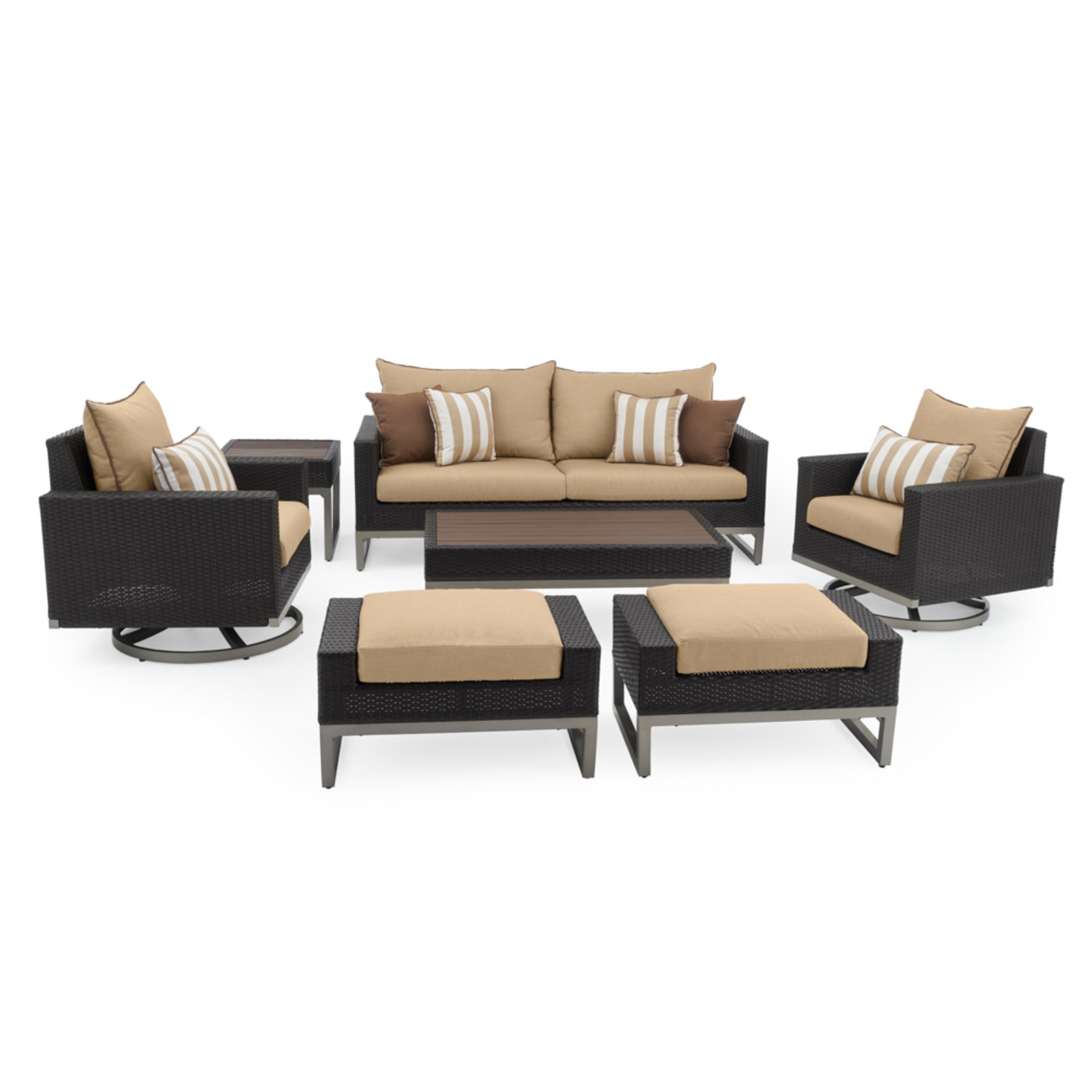 Milo™ Espresso 7pc Motion Deep Seating Set - Maxim Beige