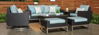 Milo™ Espresso 7 Piece Motion Deep Seating Set - Navy Blue