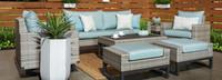 Milo™ Gray 7 Piece Motion Deep Seating Set - Moroccan Cream