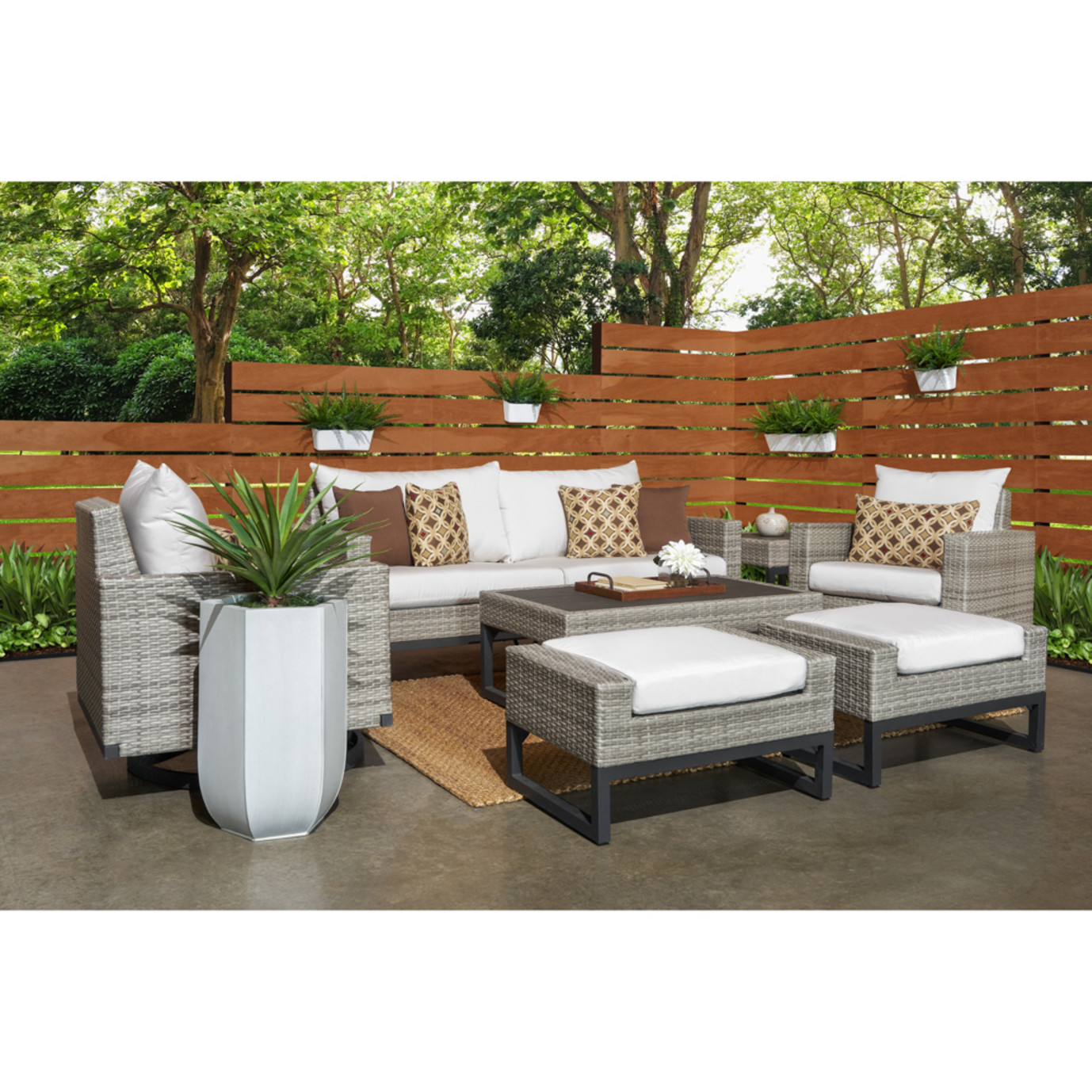 Milo™ Grey 7pc Motion Deep Seating Set - Moroccan Cream