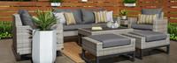 Milo™ Gray 7 Piece Motion Deep Seating Set - Maxim Beige
