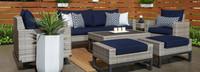 Milo™ Gray 7 Piece Motion Deep Seating Set - Spa Blue
