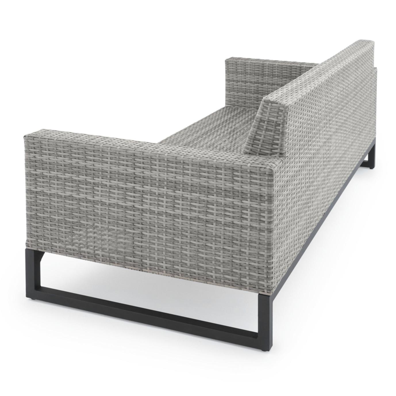 Milo™ Grey 7pc Motion Deep Seating Set - Sunset Red