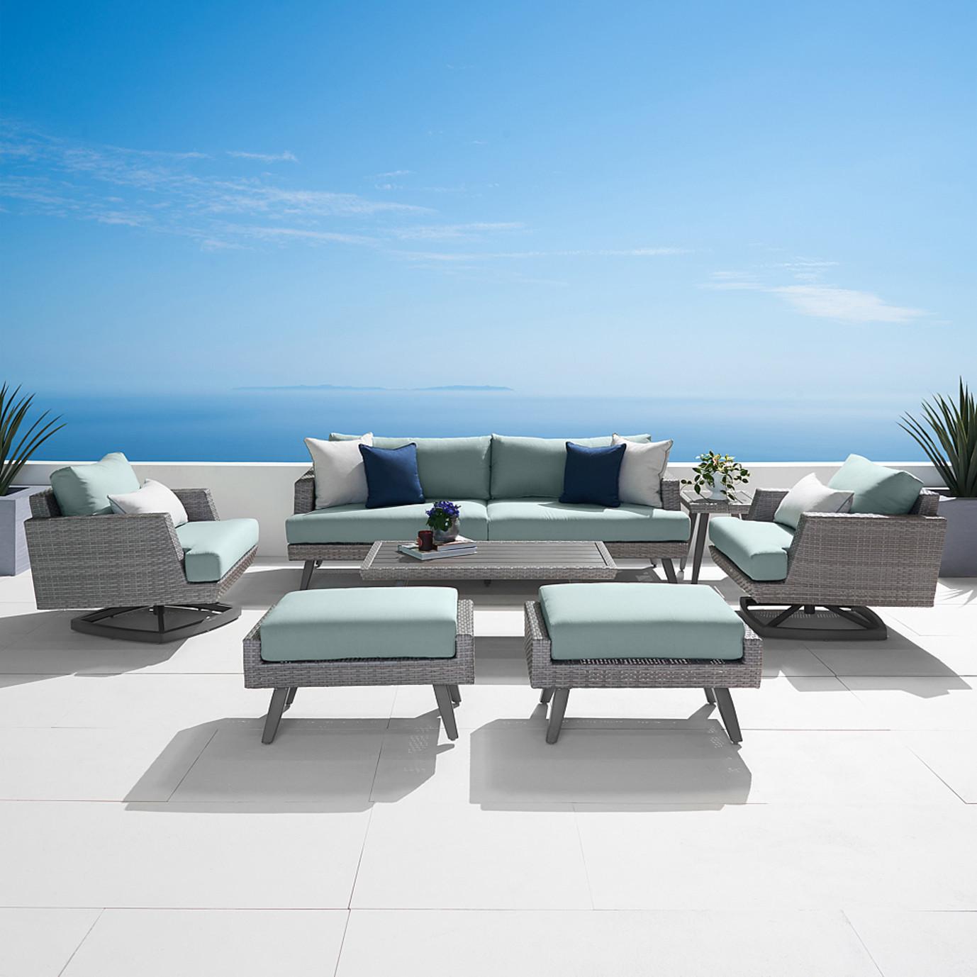 Portofino® Casual 7pc Motion Seating Set - Spa Blue