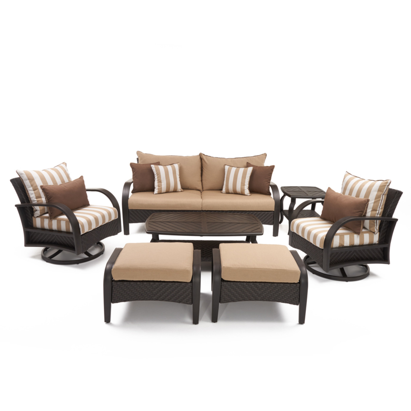 Barcelo™ 7pc Deluxe Motion Club Deep Seating Set - Maxim Beige