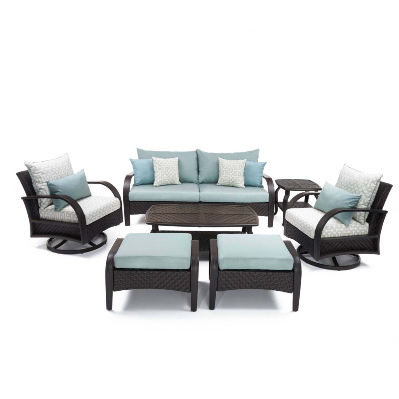 Barcelo™ 7pc Deluxe Motion Club Deep Seating Set - Spa Blue