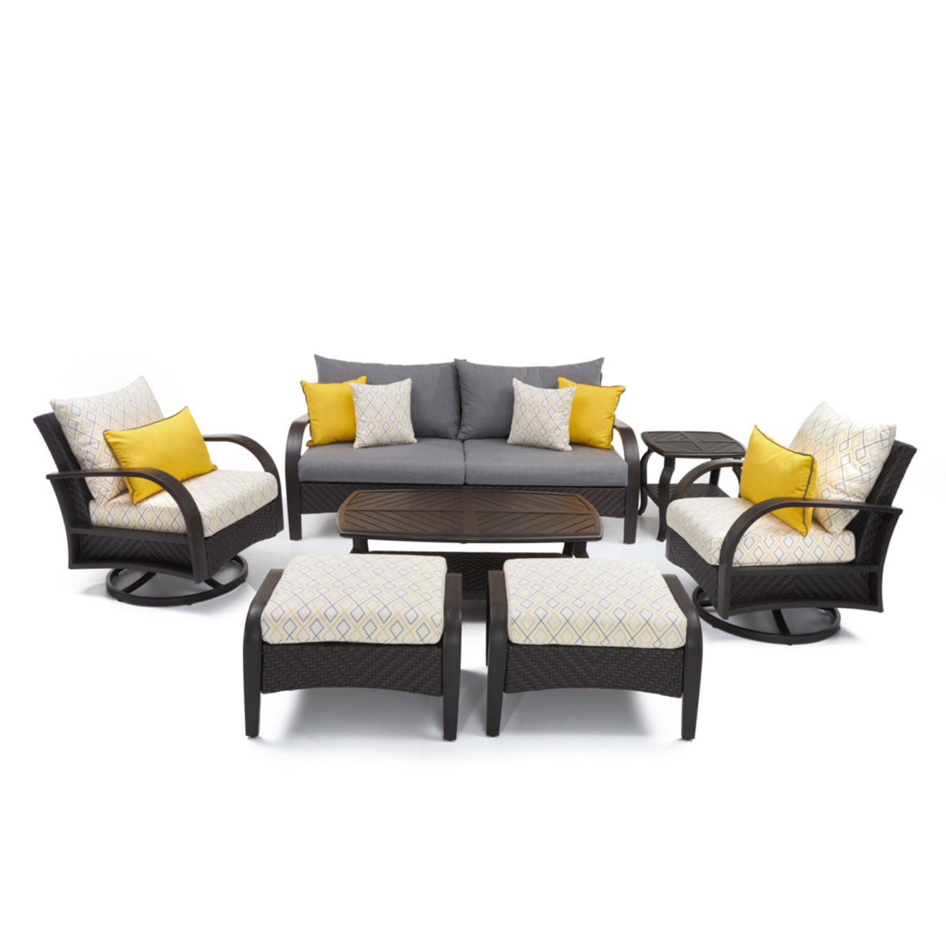 Barcelo™ Deluxe 7pc Motion Club Deep Seating Set - Sunflower Yellow
