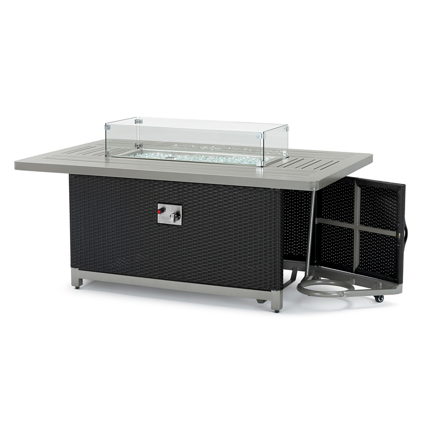 Milo™ Espresso 7pc Motion Fire Set - Charcoal Gray