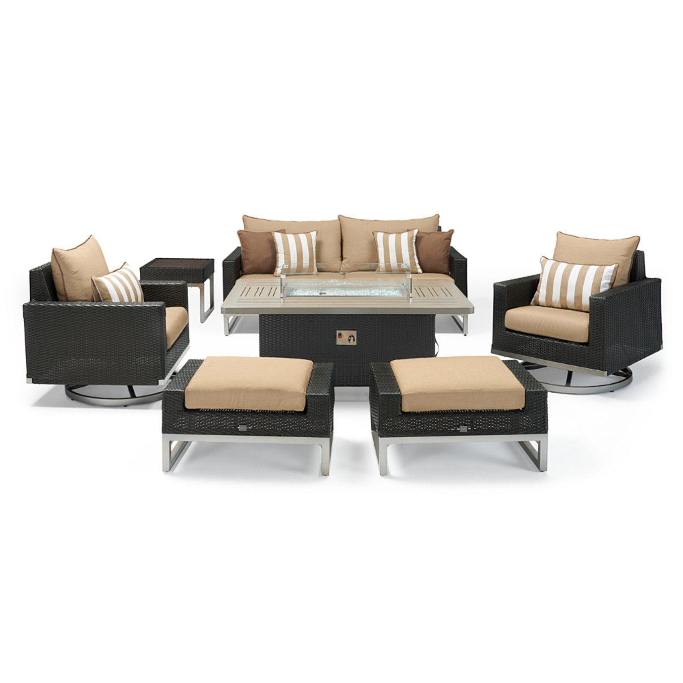 Milo™ Espresso 7 Piece Motion Fire Set - Maxim Beige
