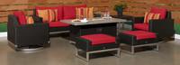 Milo™ Espresso 7 Piece Motion Fire Set - Sunset Red