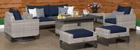 Milo™ Gray 7 Piece Motion Fire Set - Spa Blue