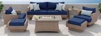 Portofino® Repose 7pc Motion Fire Seating Set - Laguna Blue