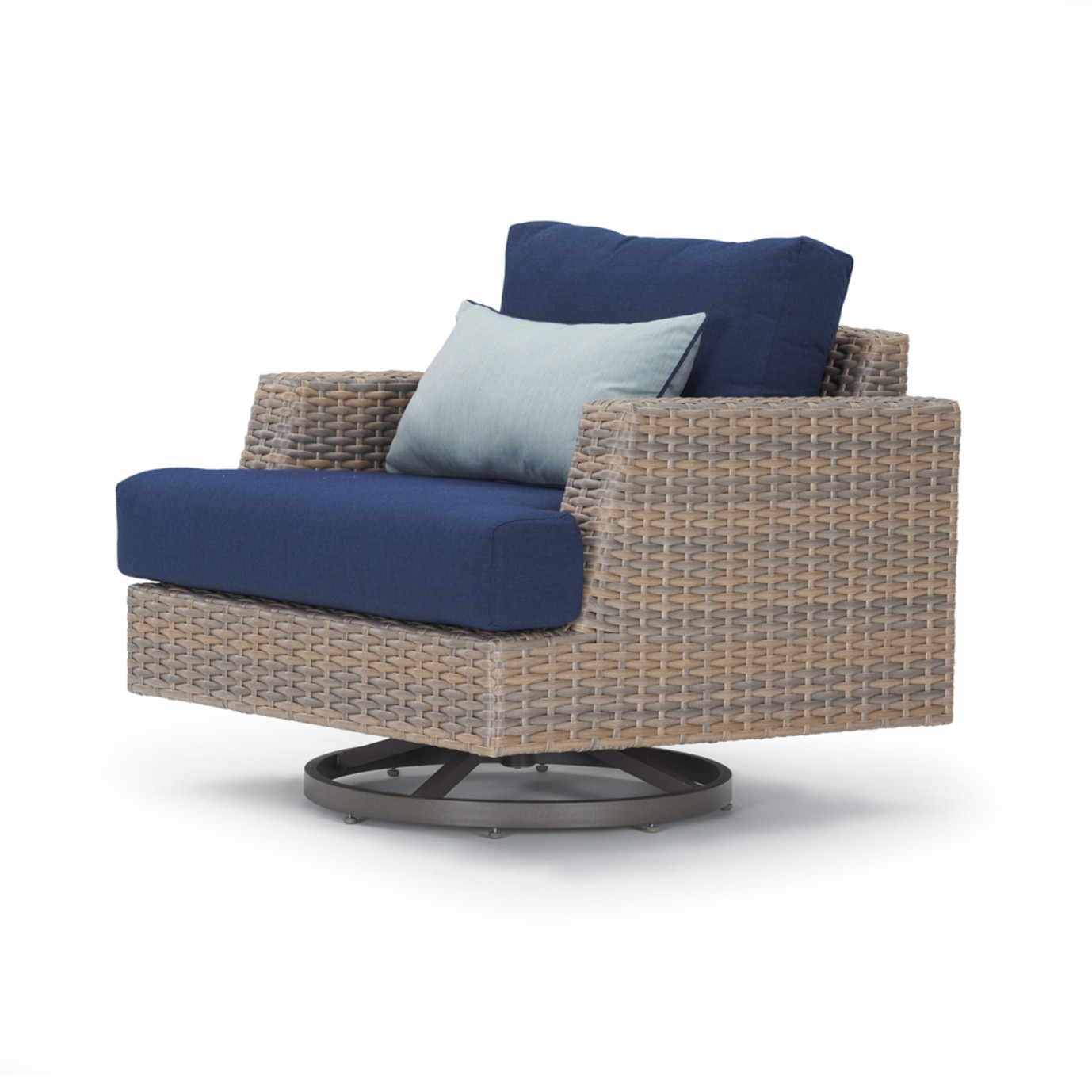 Portofino Repose 7pc Motion Fire Seating Set - Laguna Blue