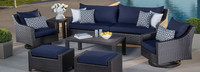 Deco™ Deluxe 8 Piece Sofa & Club Chair Set - Bliss Blue