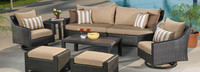 Deco™ Deluxe 8 Piece Sofa & Club Chair Set - Charcoal Gray