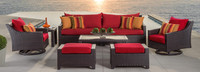 Deco™ Deluxe 8 Piece Sofa & Club Chair Set - Ginkgo Green