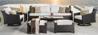 Deco™ Deluxe 8 Piece Sofa & Club Chair Set - Moroccan Cream