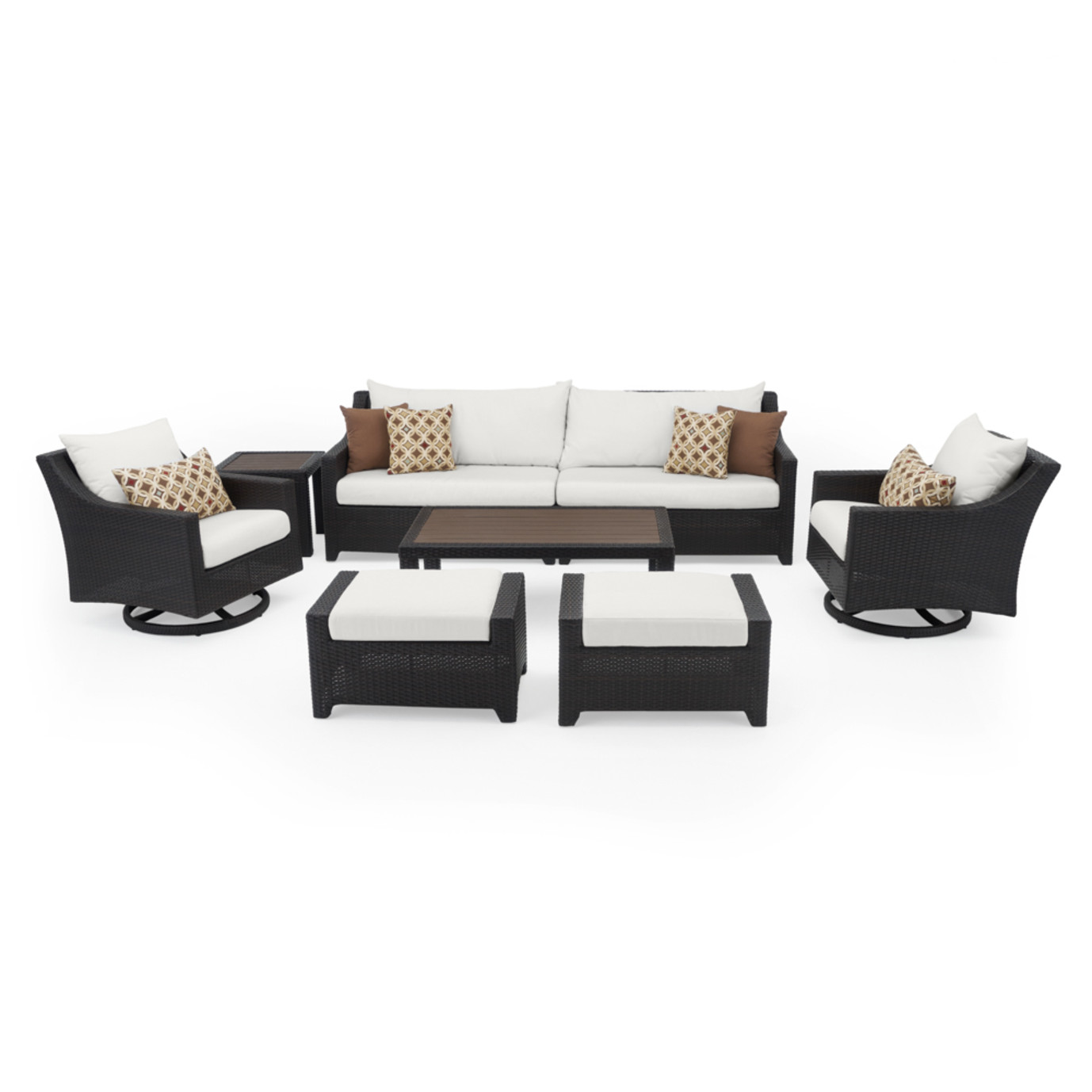 Deco™ Deluxe 8pc Sofa & Club Chair Set - Moroccan Cream