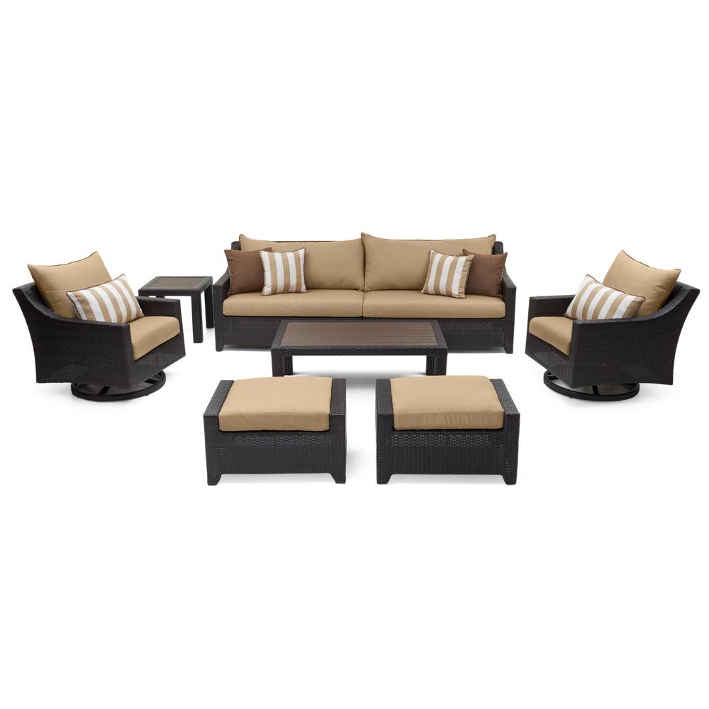 Deco Deluxe 8pc Sofa Amp Motion Club Chair Set Sunset Red