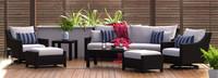 Deco™ Deluxe 8 Piece Sofa & Club Chair Set - Navy Blue