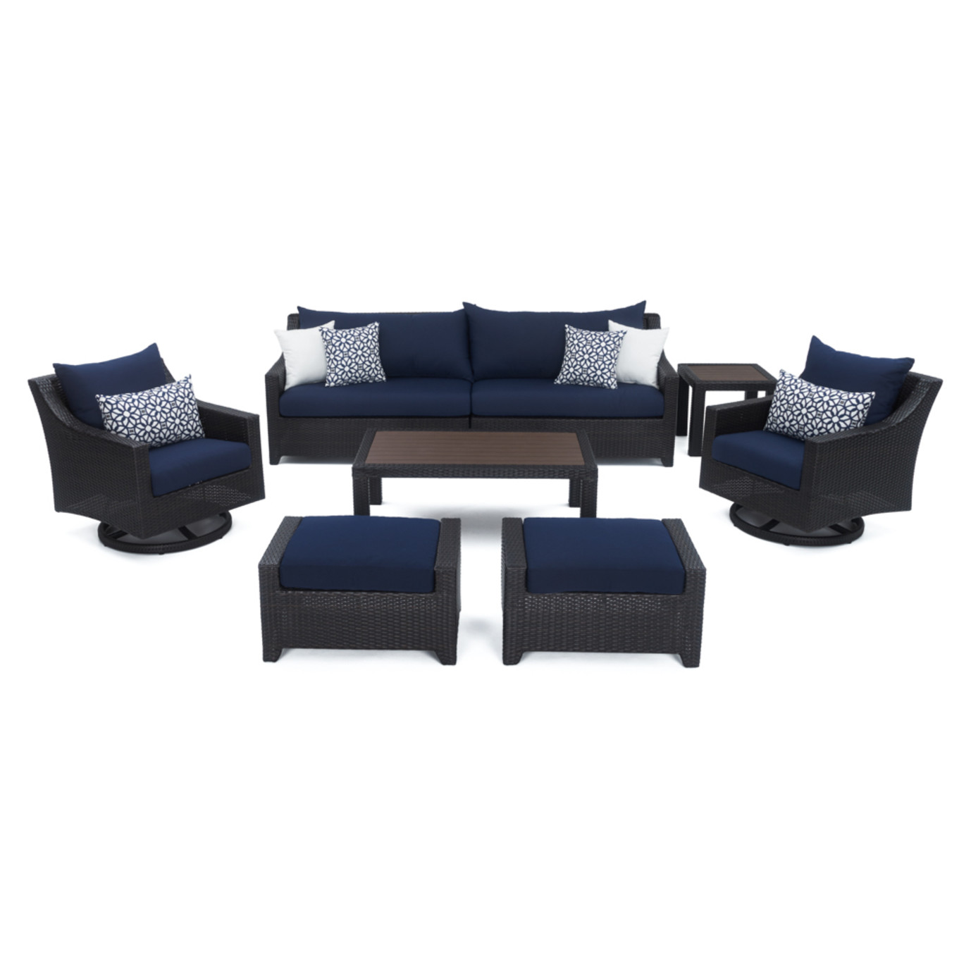 Deco™ Deluxe 8pc Sofa & Club Chair Set - Navy Blue