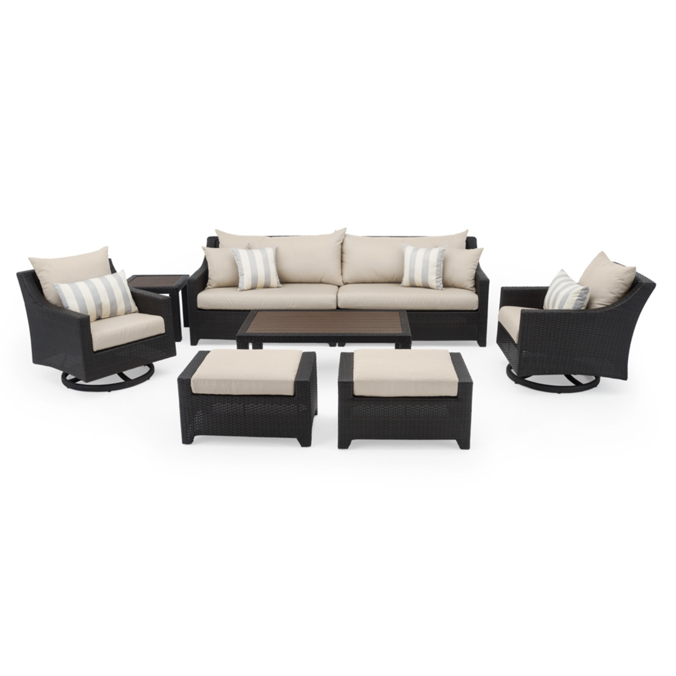 Deco™ Deluxe 8pc Sofa & Club Chair Set - Slate Grey