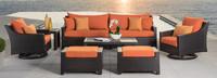 Deco™ Deluxe 8 Piece Sofa & Club Chair Set - Tikka Orange