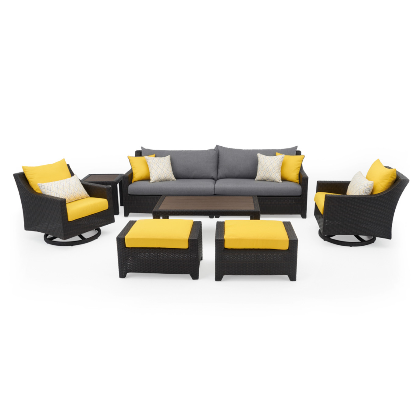 Deco™ Deluxe 8pc Sofa & Club Chair Set - Sunflower Yellow