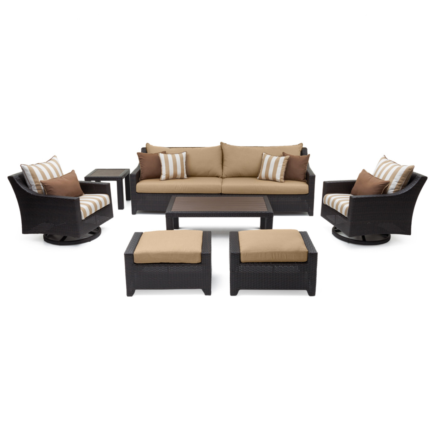 Deco™ 8pc Sofa & Club Chair Set - Maxim Beige Design