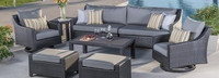 Deco™ Deluxe 8 Piece Sofa & Motion Club Chair Set - Sunset Red