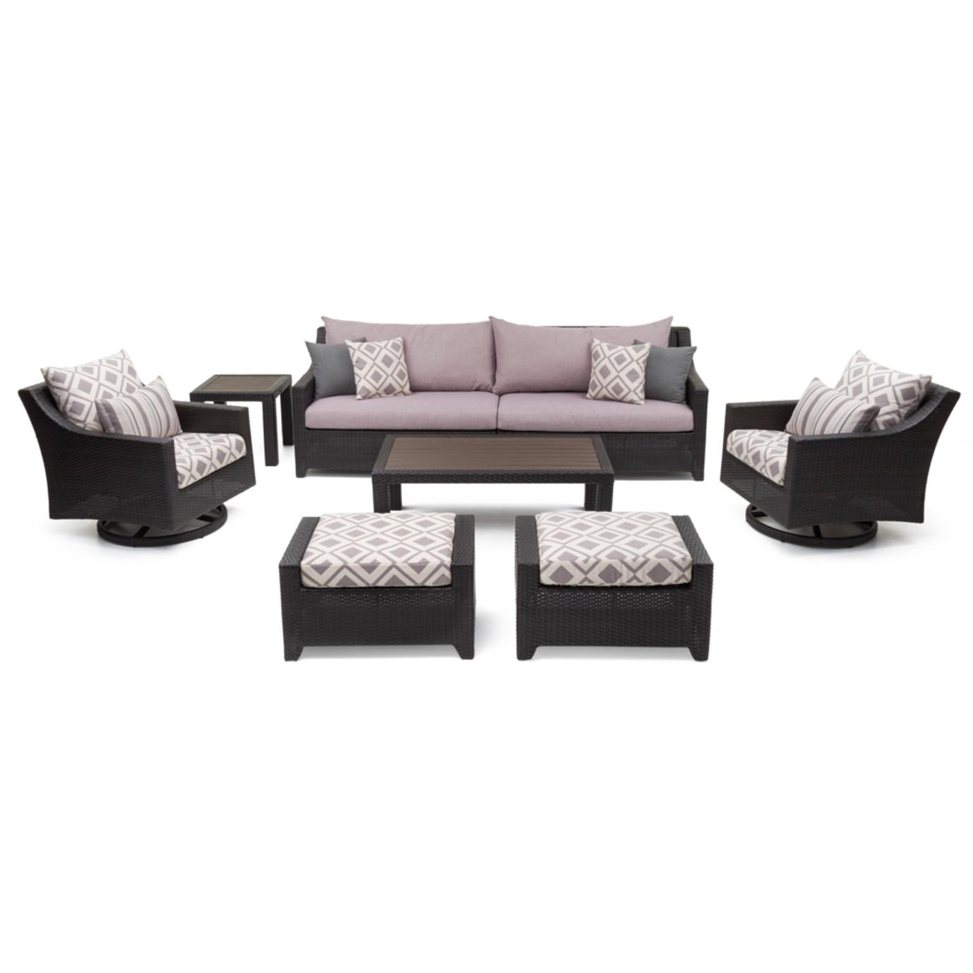 Deco Deluxe 8pc Sofa Amp Motion Club Chair Set Wisteria