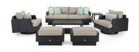 Portofino® Comfort 7 Piece Motion Seating Set - Taupe Mist