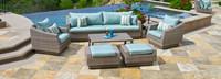 Cannes™ 8 Piece Sofa & Club Chair Set - Bliss Blue