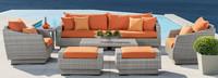 Cannes™ 8 Piece Sofa & Club Chair Set - Charcoal Gray