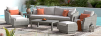 Cannes™ 8 Piece Sofa & Club Chair Set - Cast Coral