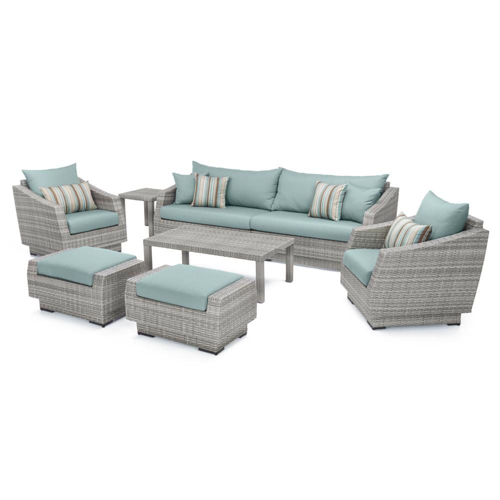 Cannes 8pc Sofa Set with Furniture Covers - Bliss Blue