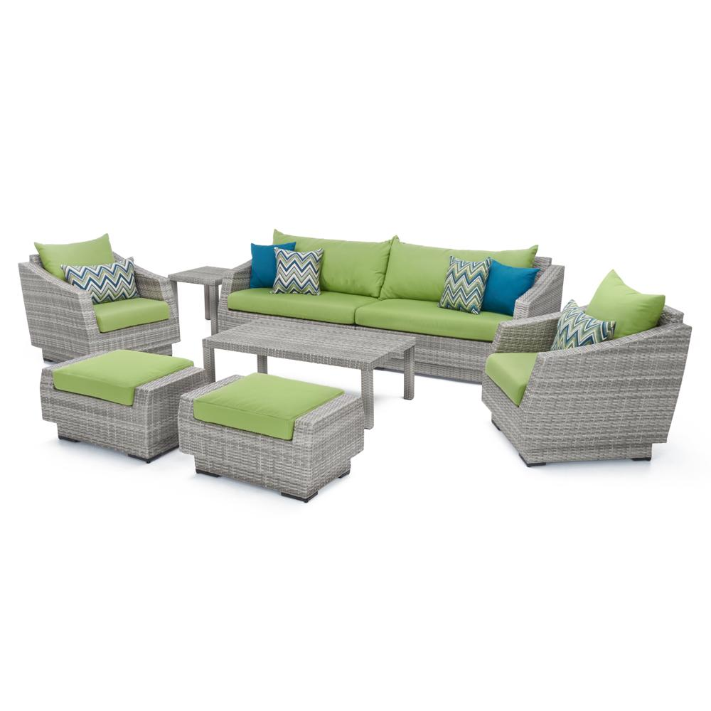 Cannes 8pc Sofa Set with Furniture Covers - Ginkgo Green