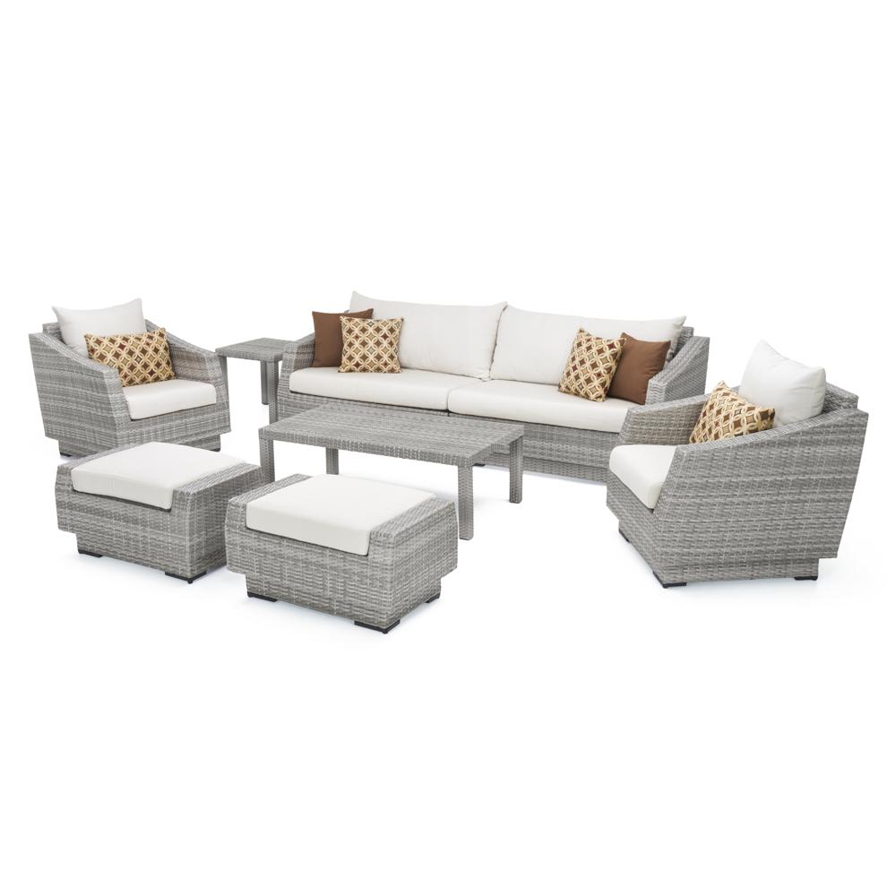 Cannes 8pc Sofa Set with Furniture Covers - Moroccan Cream