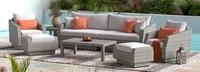 Cannes™ 8 Piece Sofa & Club Chair Set - Ginkgo Green