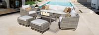 Cannes™ 8 Piece Sofa & Club Chair Set - Moroccan Cream