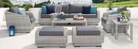 Cannes™ 8 Piece Sofa & Club Chair Set - Navy Blue
