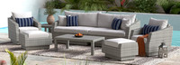 Cannes™ 8 Piece Sofa & Club Chair Set - Sunset Red