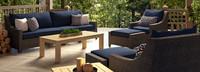 Deco™ Wood 8pc Sofa & Club Chair Set - Navy Blue