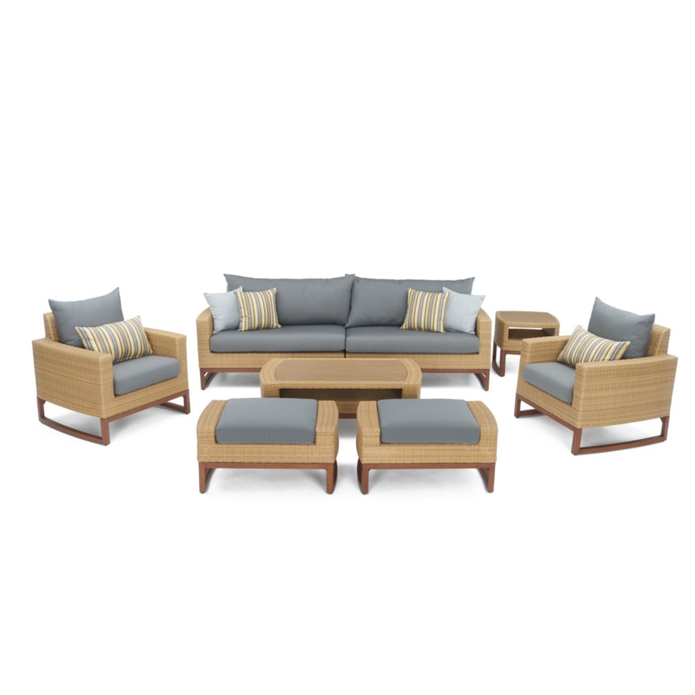 Milea™ 8pc Deep Seating Set - Charcoal Grey