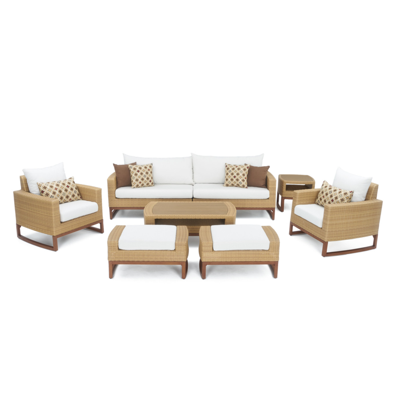 Mili™ 8 Piece Deep Seating Set - Moroccan Cream