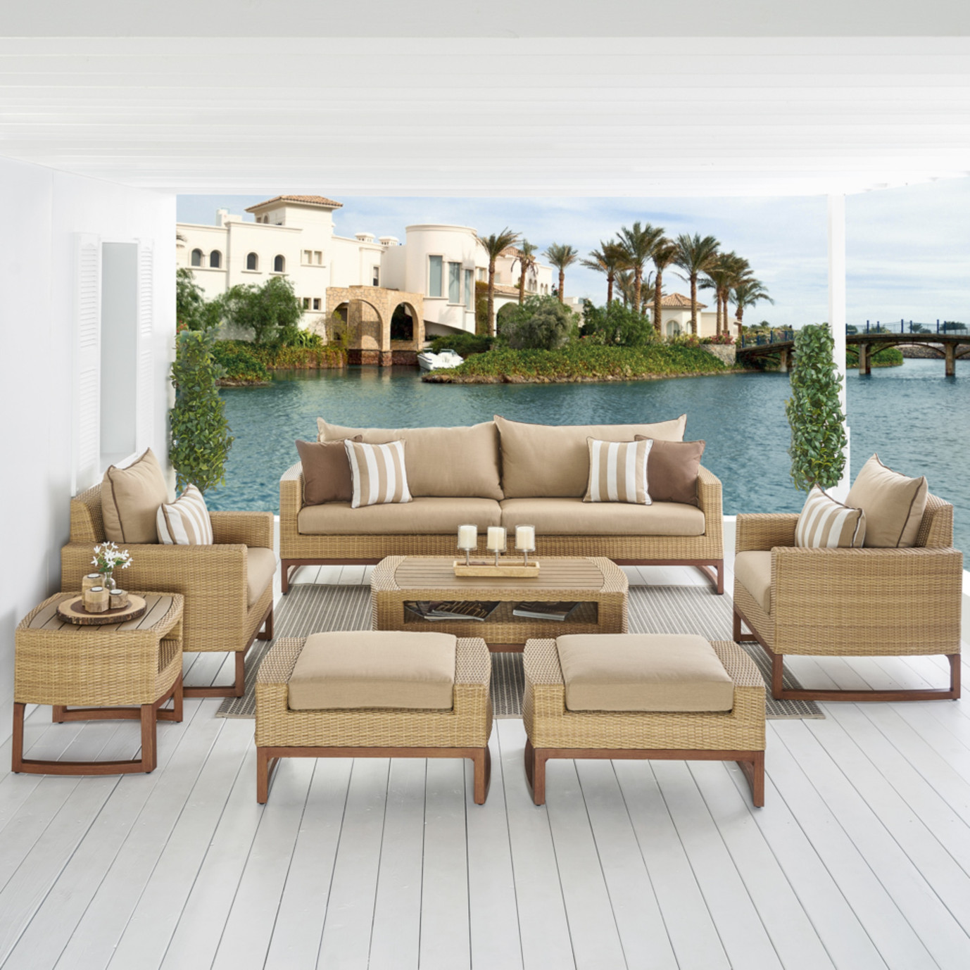Mili™ 8pc Deep Seating Set - Maxim Beige