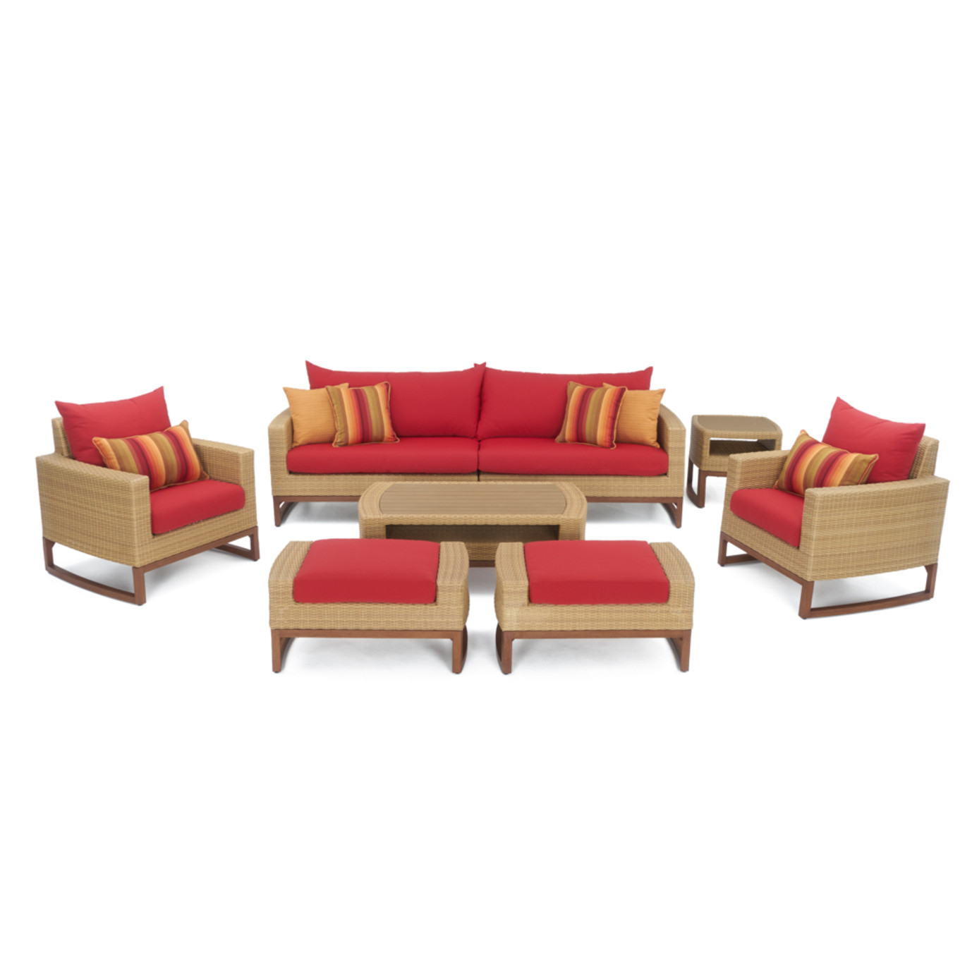 Milea™ 8pc Deep Seating Set - Sunset Red