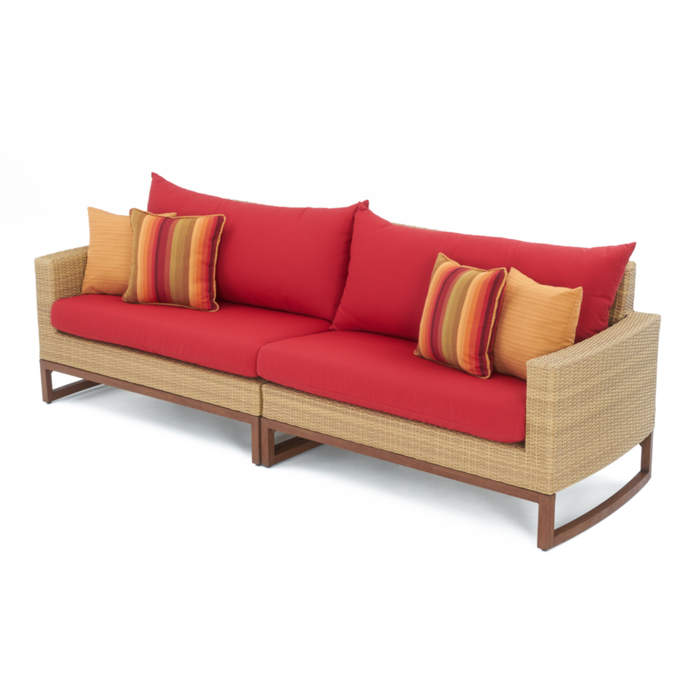 Mili™ 8 Piece Deep Seating Set - Sunset Red
