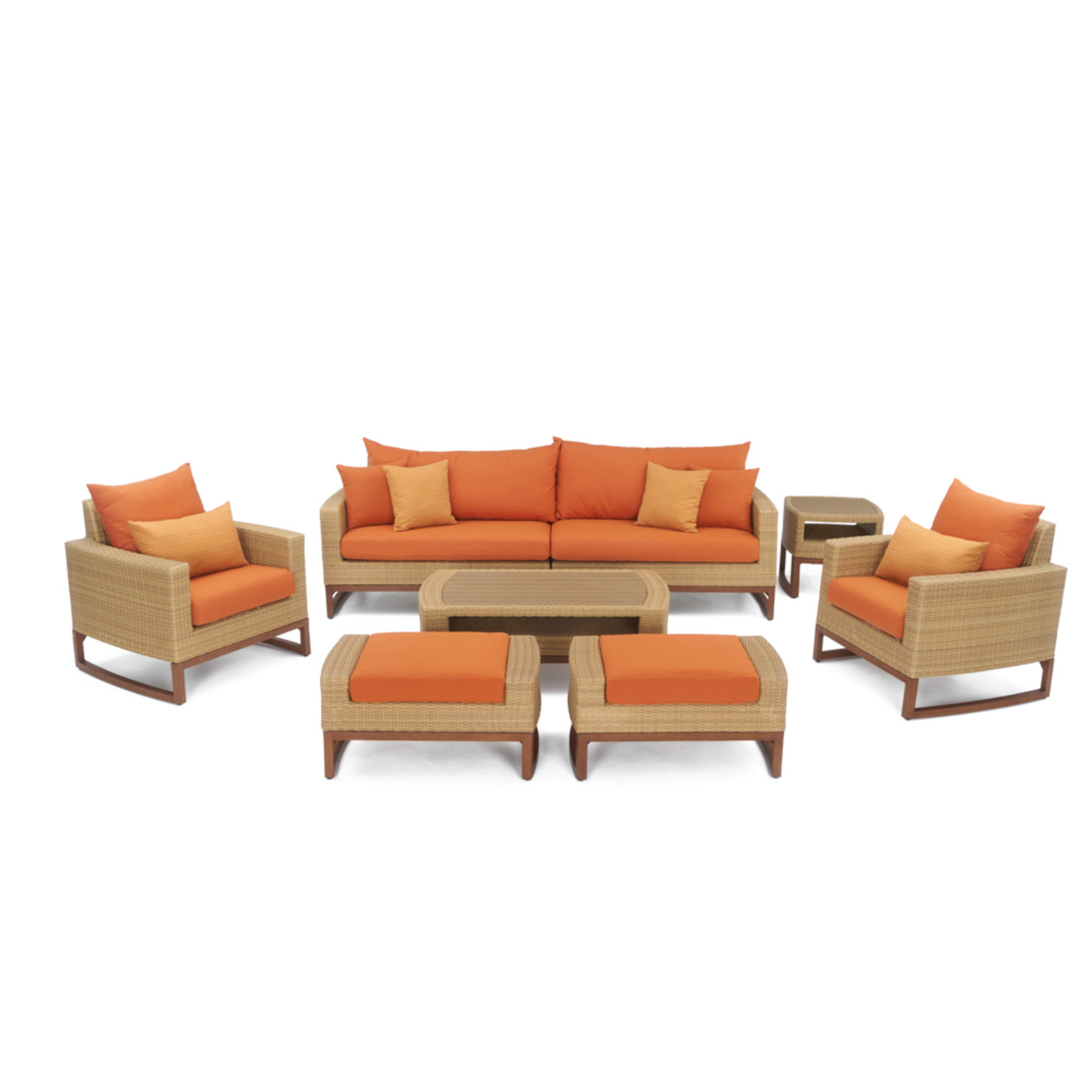 Mili™ 8pc Deep Seating Set - Tikka Orange