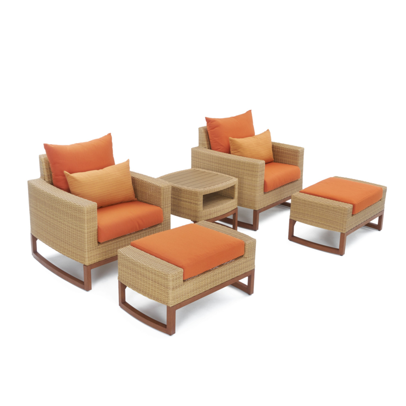 Mili™ 8 Piece Deep Seating Set - Tikka Orange